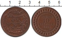 Изображение Монеты Тунис 10 сантим 1914 Медь VF