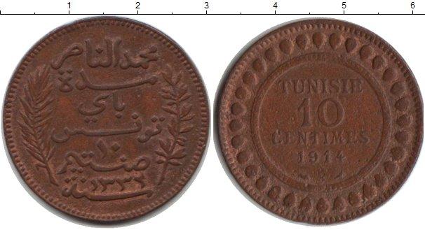 Картинка Монеты Тунис 10 сантим Медь 1914