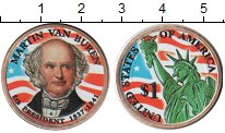 Изображение Цветные монеты США 1 доллар 2008  UNC- 8-й Президент США Ма