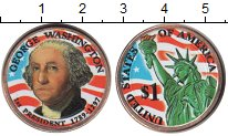 Изображение Цветные монеты США 1 доллар 2007  UNC- 1-й Президент США Дж