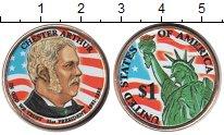 Изображение Цветные монеты США 1 доллар 2012  UNC- 21-й Президент США Ч