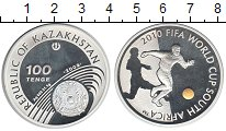 Изображение Монеты Казахстан 100 тенге 2009 Серебро Proof Чемпионат мира по фу