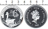 Изображение Монеты Ниуэ 2 доллара 2009 Серебро Proof- Елизавета II. 6-й де