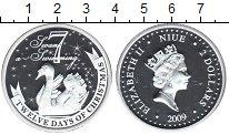 Изображение Монеты Ниуэ 2 доллара 2009 Серебро Proof- Елизавета II. 7-й де