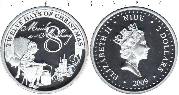 Картинка Монеты Ниуэ 2 доллара Серебро 2009