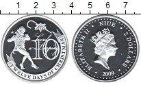 Изображение Монеты Ниуэ 2 доллара 2009 Серебро Proof- Елизавета II. 10-й д