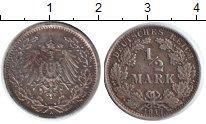 Изображение Монеты Германия 1/2 марки 1917 Серебро VF А