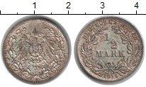 Изображение Монеты Германия 1/2 марки 1914 Серебро XF А