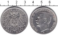 Изображение Монеты Баден 3 марки 1915 Серебро XF