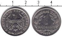 Изображение Монеты Третий Рейх 1 марка 1939 Медно-никель XF Е