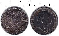 Изображение Монеты Баден 2 марки 1907 Серебро XF Фридрих