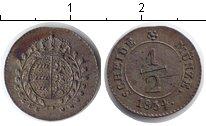 Изображение Монеты Вюртемберг 1/2 крейцера 1834 Серебро XF