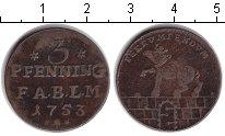 Изображение Монеты Анхальт-Бернбург 3 пфеннига 1753 Медь VF