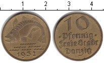 Изображение Монеты Данциг 10 пфеннигов 1932  XF Треска
