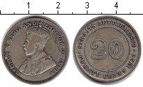 Изображение Монеты Стрейтс-Сеттльмент 20 центов 1926 Серебро VF Георг V