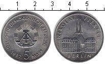Изображение Мелочь ГДР 5 марок 1987 Медно-никель UNC-