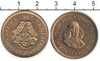 Изображение Монеты ЮАР 1/2 цента 1963  UNC Ян ван Рибек