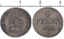 Изображение Монеты Ганновер 4 пфеннига 1835 Серебро VF