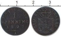 Изображение Монеты Пруссия 1 пфенниг 1827 Медь VF