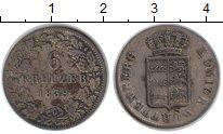 Изображение Монеты Вюртемберг 6 крейцеров 1839 Серебро XF