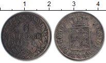 Изображение Монеты Вюртемберг 6 крейцеров 1842 Серебро XF