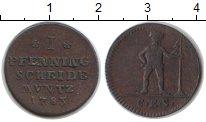 Изображение Монеты Брауншвайг-Вольфенбюттель 1 пфенниг 1783 Медь VF