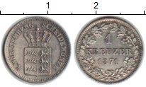 Изображение Монеты Вюртемберг 1 крейцер 1871 Серебро XF
