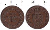 Изображение Монеты Нассау 1 крейцер 1855 Медь VF