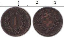 Изображение Монеты Швейцария 1 рапп 1877 Медь VF