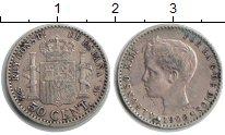 Изображение Монеты Испания 50 сентимо 1900 Серебро XF