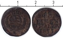 Изображение Монеты Саксония 1/48 талера 1811 Серебро XF Фридрих Август