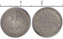 Изображение Монеты Франкфурт 1 крейцер 1864 Серебро XF