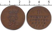 Изображение Монеты Брауншвайг-Люнебург-Каленберг-Ганновер 2 пфеннига 1794 Медь XF