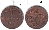 Изображение Монеты Бавария 1 пфенниг 1871 Медь XF