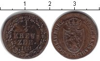 Изображение Монеты Нассау 1/4 крейцера 1811 Медь VF