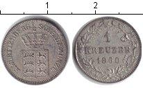 Изображение Монеты Вюртемберг 1 крейцер 1860 Серебро XF
