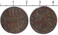 Изображение Монеты Берг 3 стюбера 1807 Серебро XF Иосиф Максимилиан IV
