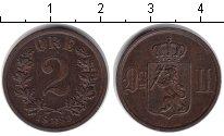 Изображение Монеты Норвегия 2 эре 1889  XF Оскар II