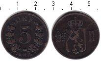 Изображение Монеты Норвегия 5 эре 1876  XF Оскар II