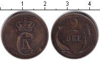 Изображение Монеты Дания 2 эре 1874 Медь XF