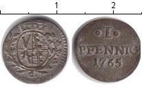 Изображение Монеты Саксония 1 пфенниг 1765 Серебро XF