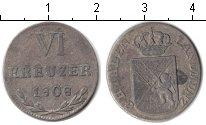 Изображение Монеты Баден 6 крейцеров 1808 Серебро XF Карл Фридрих