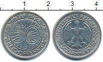 Изображение Монеты Веймарская республика 50 пфеннигов 1933 Медно-никель XF