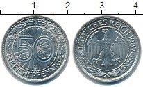 Изображение Монеты Веймарская республика 50 пфеннигов 1937 Медно-никель XF