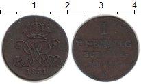 Изображение Монеты Брауншвайг-Люнебург-Каленберг-Ганновер 1 пфенниг 1831 Медь XF Вильгельм IV