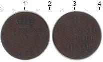 Изображение Монеты Ганновер 1 пфенниг 1832 Медь