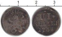 Изображение Монеты Гессен-Кассель 6 хеллеров 1738 Серебро VF Фридрих I