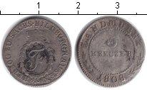 Изображение Монеты Саксен-Хильдбургхаузен 3 крейцера 1808 Биметалл VF
