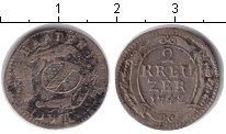 Изображение Монеты Баден 2 крейцера 1742 Серебро
