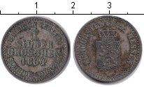 Изображение Монеты Гессен-Дармштадт 1 грош 1864 Серебро XF